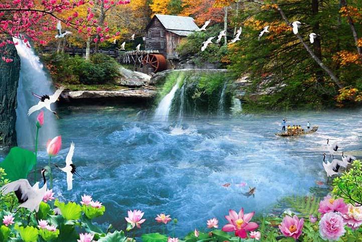 Tranh 3d phong cảnh tuyệt đẹp cho phòng khách: mẫu in TH_25865