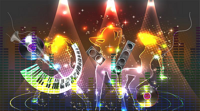 Tranh dán tường 3D cho quán karaoke
