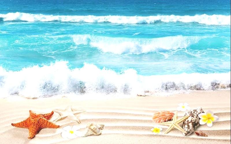 Tranh phong cảnh biển 3D tuyệt đẹp cho phòng khách: mẫu in TH_09703