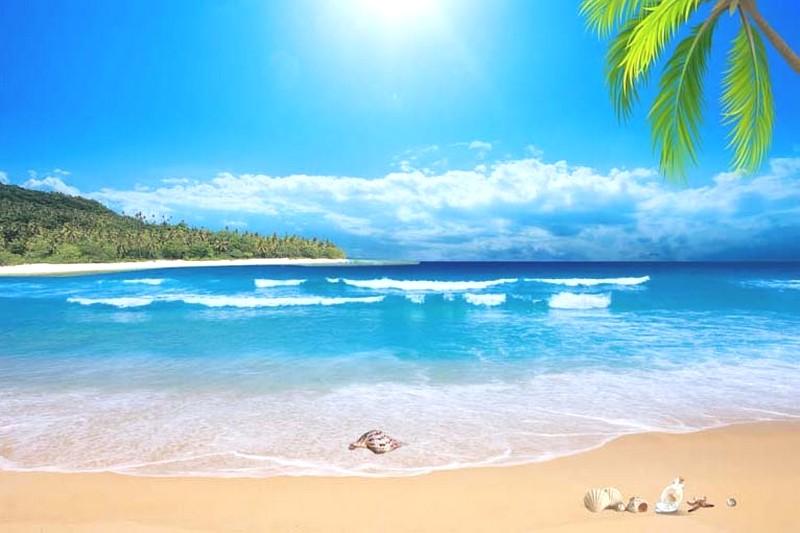 Tranh phong cảnh biển 3D tuyệt đẹp cho phòng khách: mẫu in TH_09856