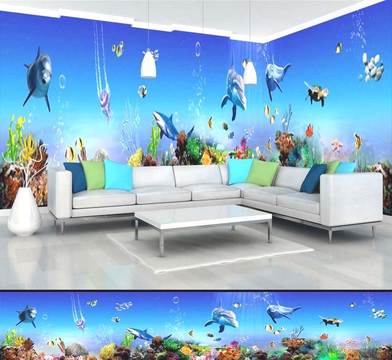 Tranh phong cảnh biển 3D tuyệt đẹp cho phòng khách: mẫu in TH_11544