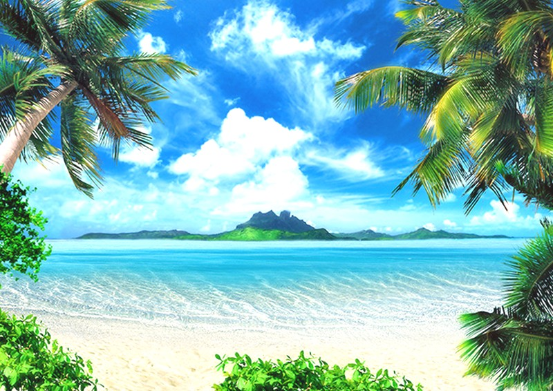 Tranh phong cảnh biển 3D tuyệt đẹp cho phòng khách: mẫu in TH_1111
