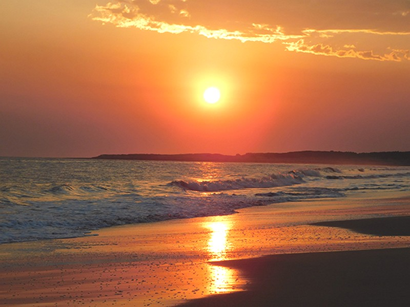 Mẫu tranh phong cảnh biển hoàng hôn cho 1 phòng ngủ bình yên và lãng mạn: Mẫu inTH-0010175-copy