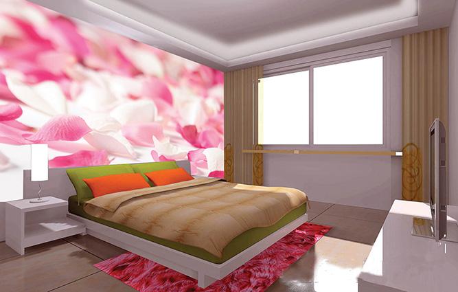 Phòng ngủ đẹp, lãng mạn hơn nhờ tranh dán tường 3D - Mã in: 003-chs-m66-300x200-1-copy
