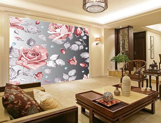 Tranh dán tường 3D được in từ vải lụa có vẻ đẹp hoàn hảo hơn, bền bỉ hơn