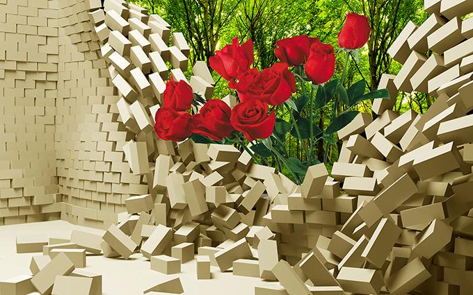TH-2004 - Tranh dán tường 3d - cách trang trí quán trà sữa, quán cà phê ấn tượng nhất