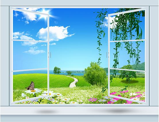 TH-58P-01555-copy- Tóm ngay 20 mẫu tranh dán tường 3d cửa sổ đẹp nhất để mở rộng không gian