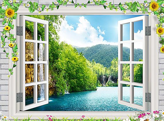 TH-58P-03138-copy - Tóm ngay 20 mẫu tranh dán tường 3d cửa sổ đẹp nhất để mở rộng không gian