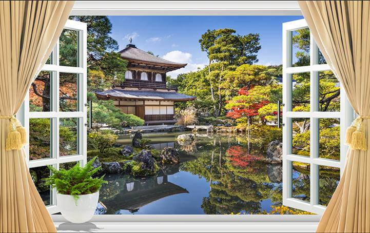 Những mẫu tranh khung cửa sổ 3D đẹp nhất thế giới: mã in TH12-T_48