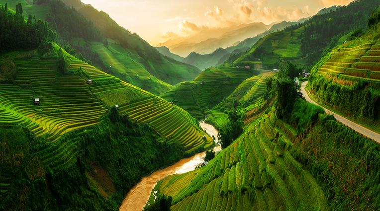 THS_1382 - Tranh 3d phong cảnh làng quê đẹp nhất 2019