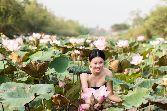 THS_1491 - Tranh 3d phong cảnh làng quê đẹp nhất 2019