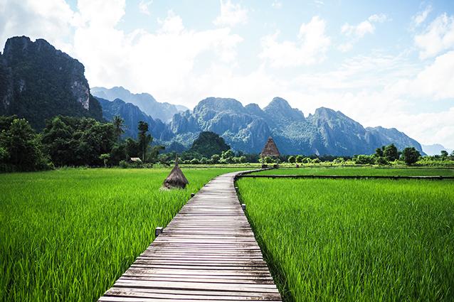 THS_1618- Tranh 3d phong cảnh làng quê đẹp nhất 2019