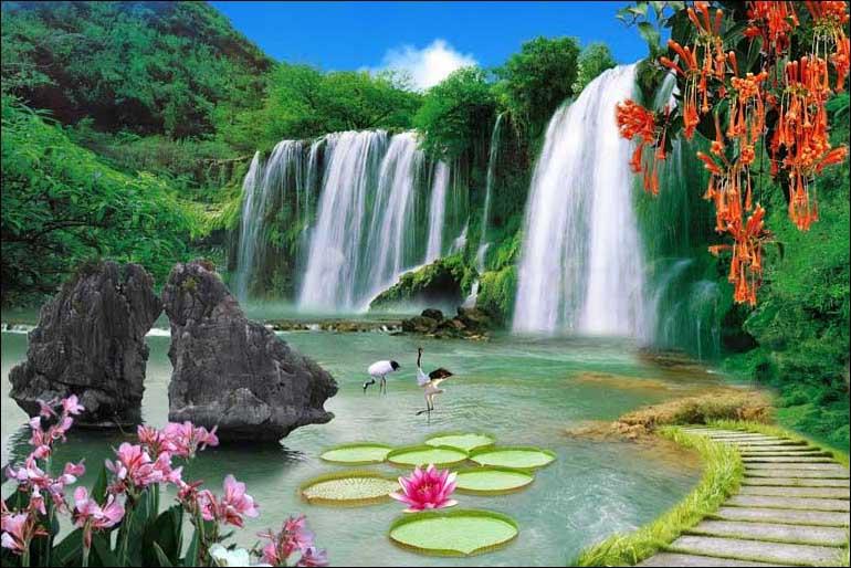 Mãn nhãn với 25 mẫu tranh phong cảnh thác nước 3d đẹp nhất thế giới: mã in TH_04906