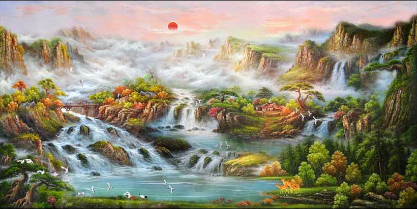 Mãn nhãn với 25 mẫu tranh phong cảnh thác nước 3d đẹp nhất thế giới: mã in TH_04993