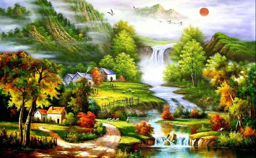 Mãn nhãn với 25 mẫu tranh phong cảnh thác nước 3d đẹp nhất thế giới: mã in TH_05788