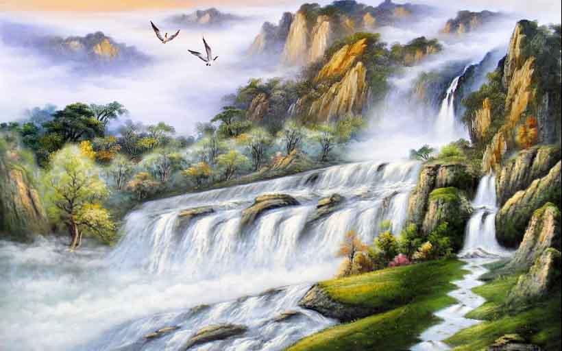 Mãn nhãn với 25 mẫu tranh phong cảnh thác nước 3d đẹp nhất thế giới: mã in TH_05789