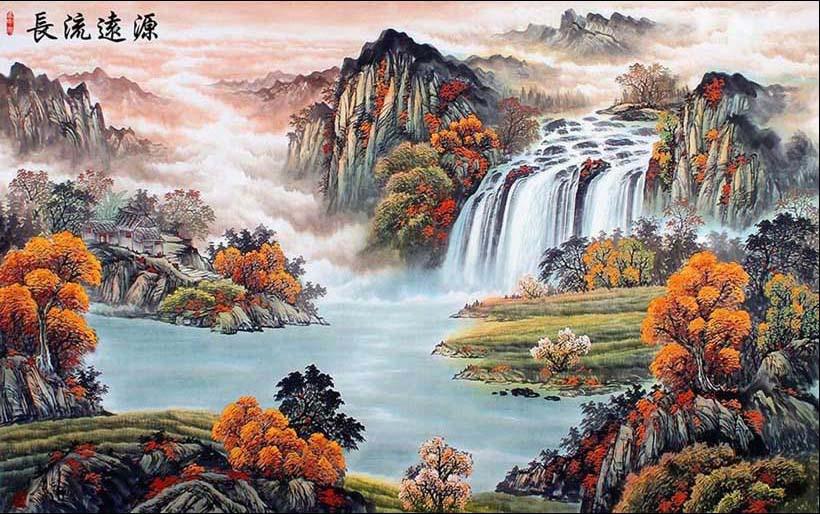 Mãn nhãn với 25 mẫu tranh phong cảnh thác nước 3d đẹp nhất thế giới: mã in TH_06977