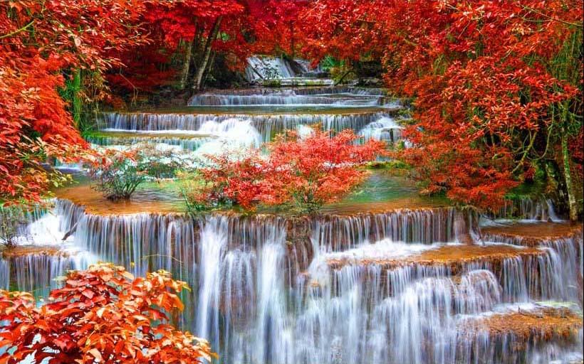 Mãn nhãn với 25 mẫu tranh phong cảnh thác nước 3d đẹp nhất thế giới: mã in TH_07161