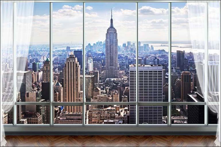 TH_07406 - Tóm ngay 20 mẫu tranh dán tường 3d cửa sổ đẹp nhất để mở rộng không gian