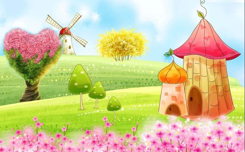 TH_08193 - Tranh dán tường 3d hoạt hình dán phòng bé yêu - món quà Trung Thu ý nghĩa nhất