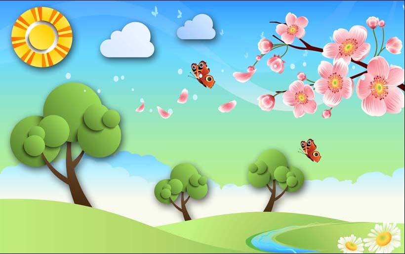 TH_08197 - Tranh dán tường 3d hoạt hình dán phòng bé yêu - món quà Trung Thu ý nghĩa nhất