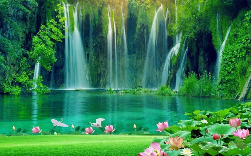 Mãn nhãn với 25 mẫu tranh phong cảnh thác nước 3d đẹp nhất thế giới: mã in TH_08587