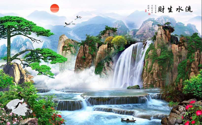 Mãn nhãn với 25 mẫu tranh phong cảnh thác nước 3d đẹp nhất thế giới: mã in TH_08681