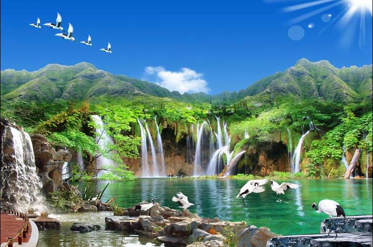 Mãn nhãn với 25 mẫu tranh phong cảnh thác nước 3d đẹp nhất thế giới: mã in TH_08943