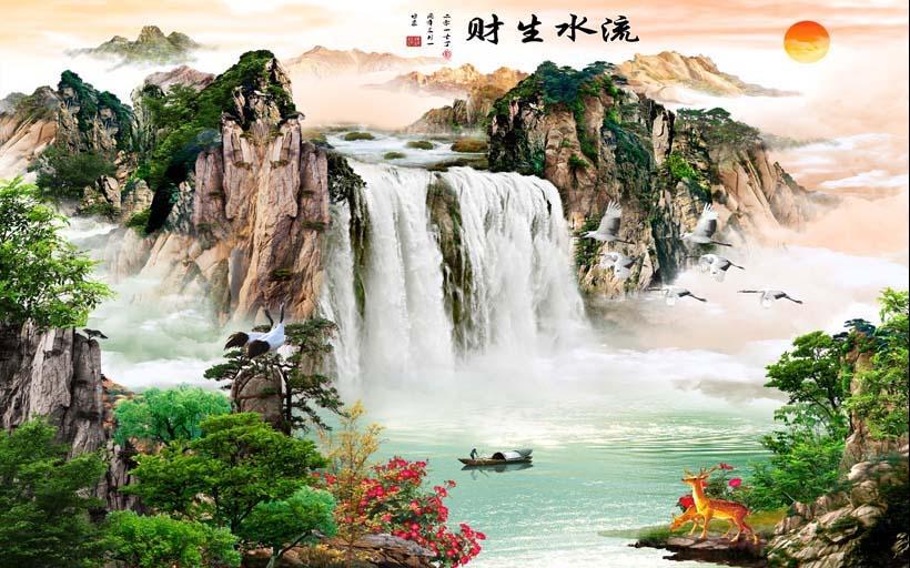 Mãn nhãn với 25 mẫu tranh phong cảnh thác nước 3d đẹp nhất thế giới: mã in TH_09096
