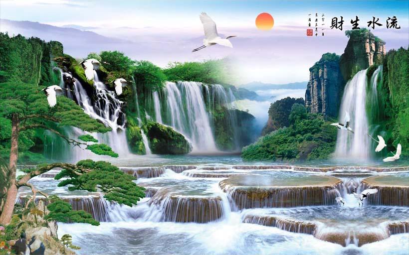 Mãn nhãn với 25 mẫu tranh phong cảnh thác nước 3d đẹp nhất thế giới: mã in TH_09207