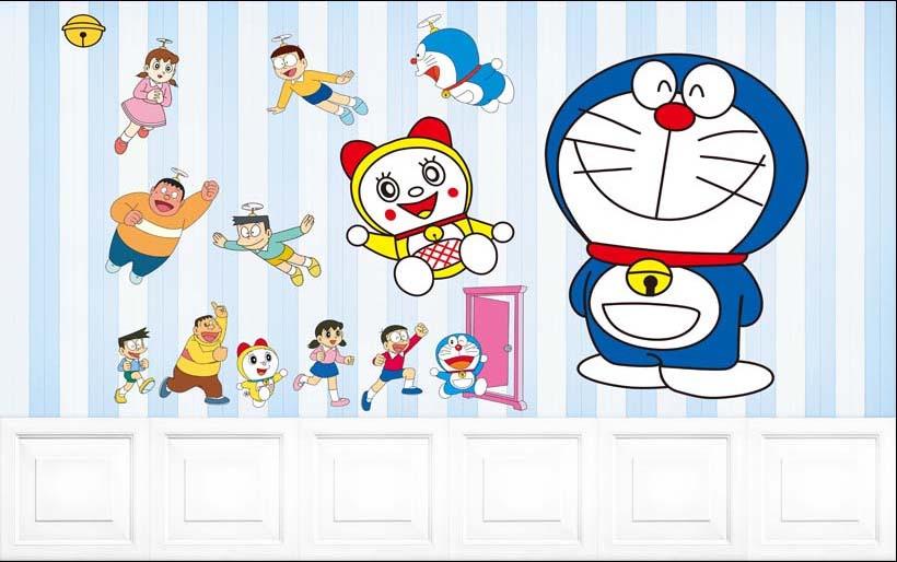 TH_09500 - Tranh dán tường 3d hoạt hình dán phòng bé yêu - món quà Trung Thu ý nghĩa nhất