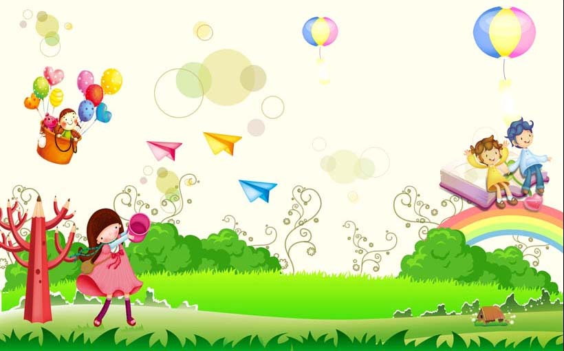 TH_09719 - Tranh dán tường 3d hoạt hình dán phòng bé yêu - món quà Trung Thu ý nghĩa nhất