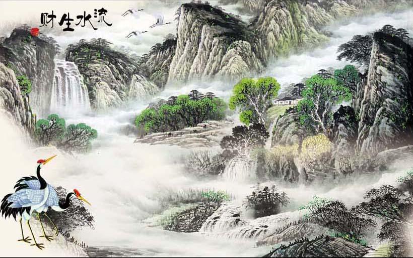 TH_10336 - Những mẫu tranh 3d, tranh phong cảnh, tranh phong thủy hợp với người mệnh Kim