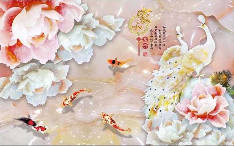 TH_10581 - Top 10 mẫu tranh dán tường 3d giả ngọc đẹp nhất – mẹo hút tài lộc cho gia chủ