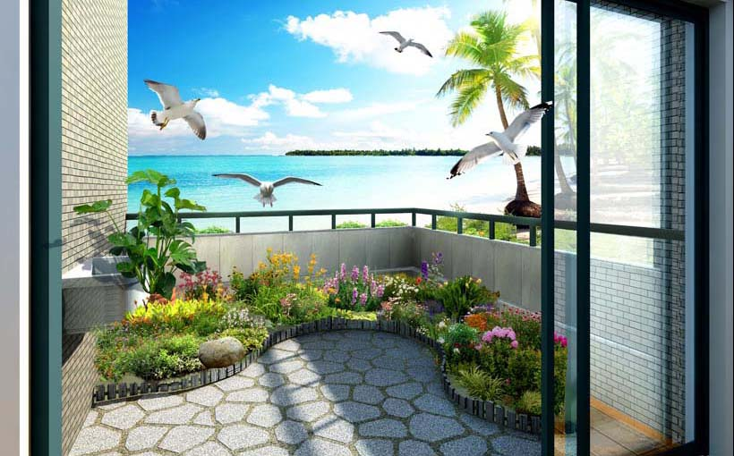 TH_11325- Tóm ngay 20 mẫu tranh dán tường 3d cửa sổ đẹp nhất để mở rộng không gian