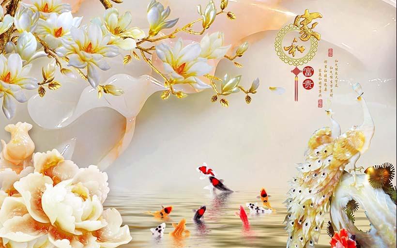 TH_11661 - Top 10 mẫu tranh dán tường 3d giả ngọc đẹp nhất – mẹo hút tài lộc cho gia chủ