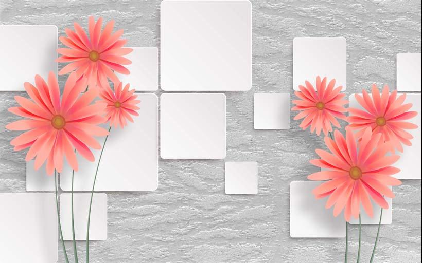 Đơn giản mà đẹp - Đó là chất riêng của tranh dán tường 3d hiện đại: mẫu in TH_11941