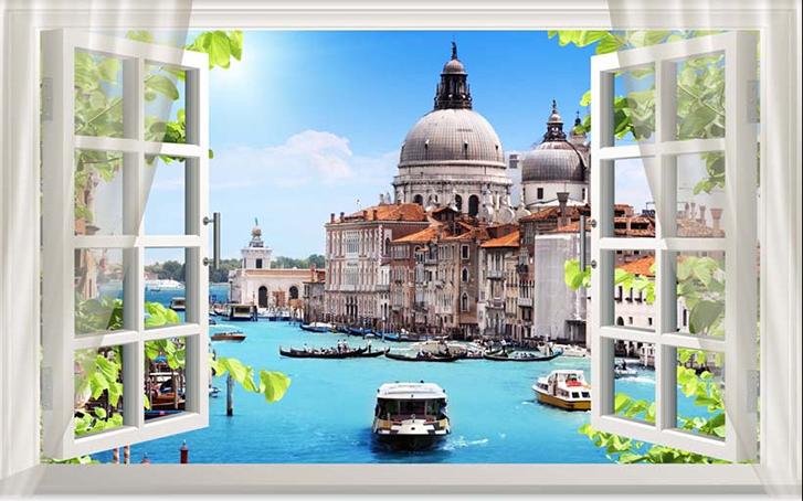 Những mẫu tranh khung cửa sổ 3D đẹp nhất thế giới: mã in TH_24617