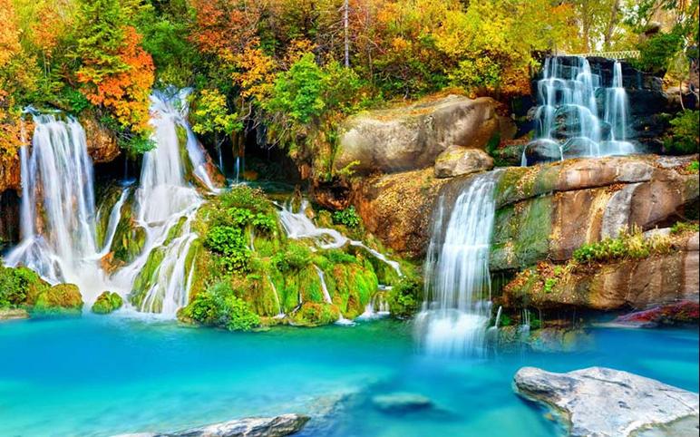 Mẫu tranh phong cảnh thác nước luôn có sự lôi cuốn kỳ diệu: mẫu in TH_25236