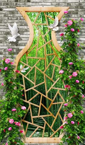 TH_25444- Tranh dán tường 3d - cách trang trí quán trà sữa, quán cà phê ấn tượng nhất
