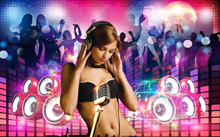 TH_25702 - Mẫu tranh 3d dán tường quán karaoke đẹp, độc, lạ và táo bạo nhất hiện nay