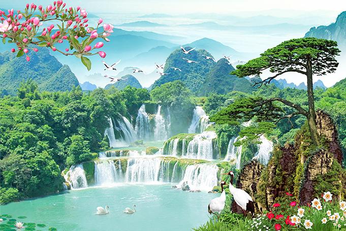 Mẫu tranh phong cảnh thác nước luôn có sự lôi cuốn kỳ diệu: mẫu in TH_N_00146-copy