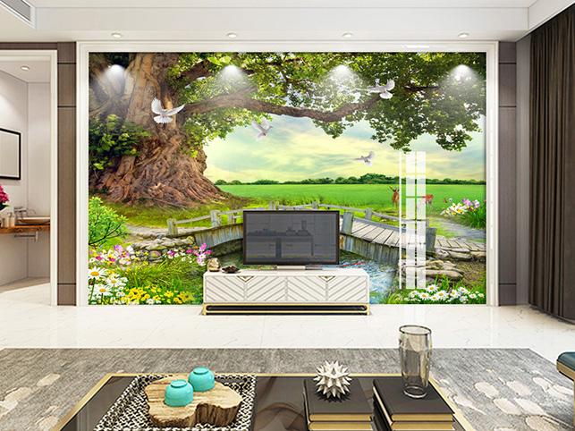 Tranh dán tường 3D mang đến 1 không gian đẹp như ý: mẫu in TH_O_00330-pc-copy