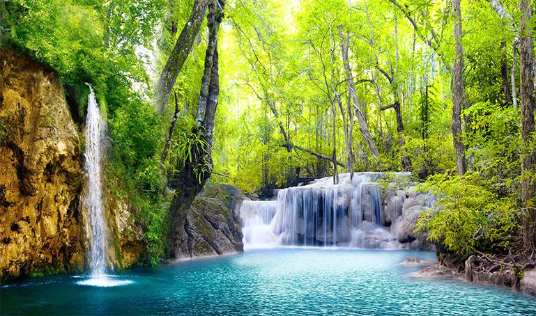 Mẫu tranh phong cảnh thác nước luôn có sự lôi cuốn kỳ diệu: mẫu in TH_T_4500