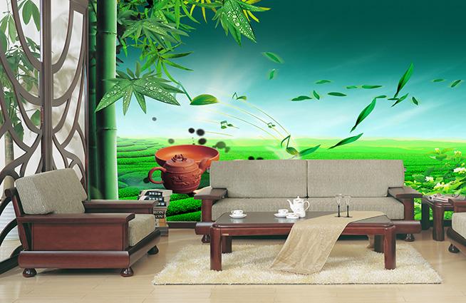Tranh dán tường phòng khách đẹp, sang trọng và bền bỉ
