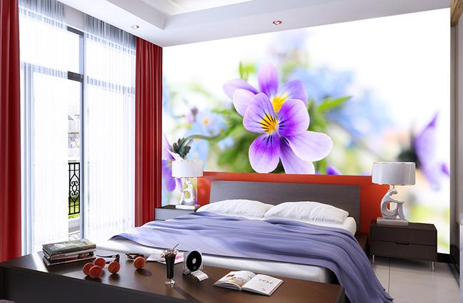 Tranh dán tường 3D khổ lớn đẹp cho phòng ngủ: mẫu in 022-bh-107-copy