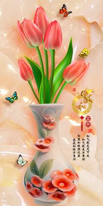 TH-58P-005233-copy - Phòng bếp sẽ phù hợp với các mẫu tranh đứng với chủ đề bình hoa