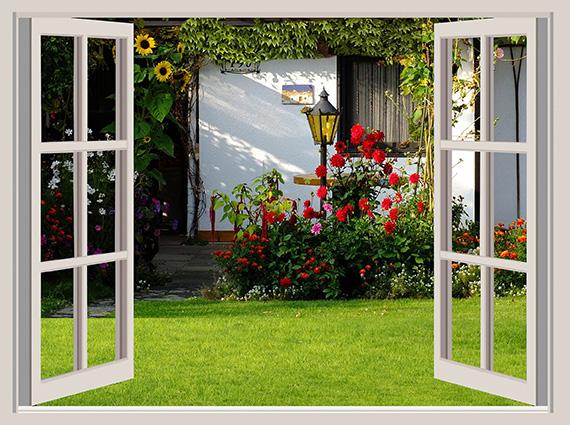 Tranh 3D phòng khách hình cửa sổ đẹp nhất: mã in TH-58P-03007-copy