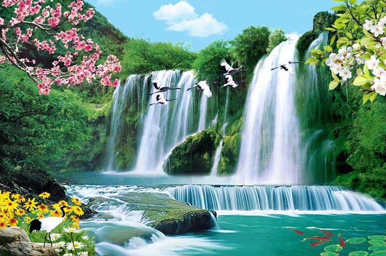 Tranh sơn thủy không chỉ đẹp mà còn mang lại nhiều may mắn cho gia chủTH_04889