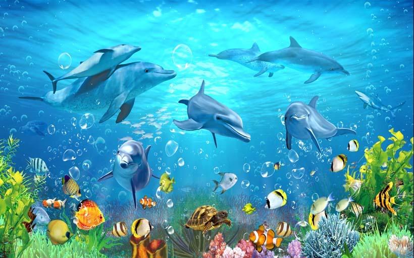 TH_08446 - Những mẫu tranh cảnh biển 3d đẹp khó cưỡng tại xưởng in Thiên Hà